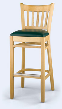 985B - Wood Spindle Back Bar Stool